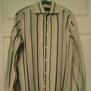 Etro Milano Striped Dress Shirt 40/M Italy